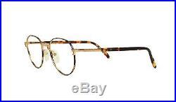 Louis Feraud Paris Ordos Gold Tortoise Vintage Metal Large Eyeglasses 90s France