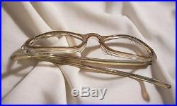 Lovely Vintage Rhinestone Celluloid glasses frames. Marked Frame France T W E