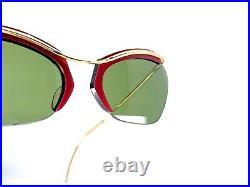 Lunette Ancienne Vintage Eyeglasses Sunglasses Sol Amor Nylor Gold Filled 50s
