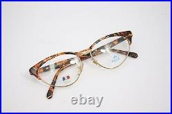 Lunettes Rege Vintage Eyeglasses MadeinFrance Cats CR01 65 53mm Gold Brown