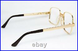 Lux De Morez Gedeon Vintage Glasses Eyeglasses Bril Square 22K Gold Plated Rare