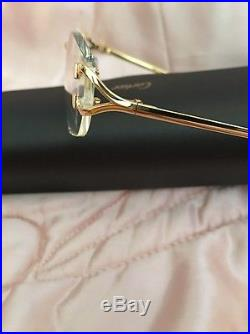 Luxury Cartier Eyeglasses Paris 135 24K Gold with serial number With Case