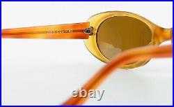 Mikli Par Mikli Sunglasses 7161 Col. 2142 Vintage Sunglasses Oval 90s Orange