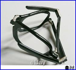 Montatura per occhiali pieghevoli Frame France vintage 1960s celluloide nera