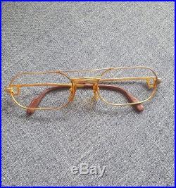 f94c3c8bc09 Must De CARTIER Vintage Eyeglass Frames 18k Overlay Original Authentic No  Lenses
