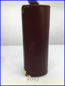 NEW AUTHENTIC CARTIER PATTERNED CASE LEATHER EYEGLASSES SUNGLASS Vintage Case