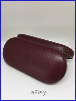 NEW AUTHENTIC Vintage CARTIER HARD CASE MEDIUM LEATHER EYEGLASS SUNGLASS Case