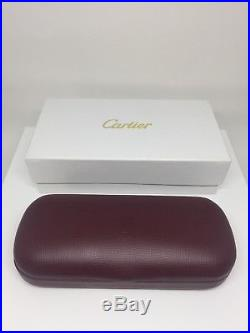 5b934e452a184 NEW AUTHENTIC Vintage CARTIER Hard CASE RED LEATHER EYEGLASSES SUNGLASSES  Case