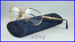 NEW MOST RARE VINTAGE ETTORE BUGATTI EB 503 0104 GOLD Eyeglasses Frames Size 54