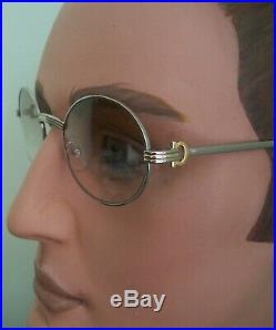 NEW Silver Eyeglasses VINTAGE Oval lens with case for Man