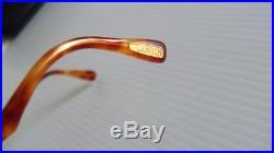 NEW VINTAGE 90s LANVIN GOLD ANGULAR SQUARE RIMLESS EYEGLASSES