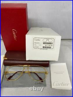 (NEW) Vintage Cartier Tank Gold Sunglasses / Eyeglasses Frames Authentic 1988