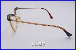 NICE Vintage AMOR 1052 Rx Eyeglasses Frames Gold Black Brown 130mm Jeweled D264