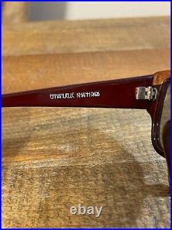 NOS 1980s Vintage Emmanuelle Khanh Exotic Ostrich Skin Eyeglasses France