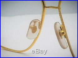 NOS Authentic Vintage Cartier Tank LC Eyeglasses Gold Plated 1988 France 62-14mm