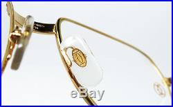 NOS VINTAGE EYEGLASSES CARTIER ROMANCE LOUIS 58mm GOLD SILVER FRAME FULL SET