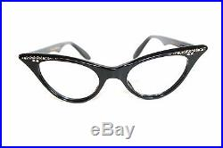 NOS authentic vintage eyeglasses with stones Choice of Clear or Black 2 models