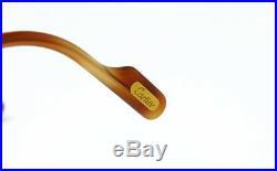 N. O. S. VINTAGE EYEGLASSES CARTIER AURORE JASPE BLONDE 50mm TORTOISE GOLD FRAME