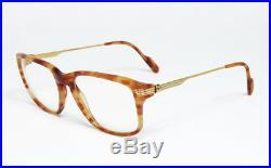 N. O. S. Vintage Eyeglasses Cartier Lumen Jaspe Blonde Tortoise Gold Square Frame