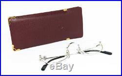 N. O. S. Vintage Eyeglasses Cartier T8100348 Platinum Gold Nylor Frame Sunglasses