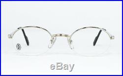 N. O. S. Vintage Eyeglasses Cartier T8100376 Platine Gold Oval Nylor Frame Vendome