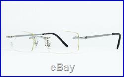 N. O. S. Vintage Eyeglasses Cartier T8100574 Rimless Platine Titanium Frame Santos