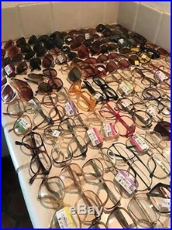 Nerd Frame Lot 143 Pair Vintage Eyeglasses Sunglasses USS Tortoise France Cateye