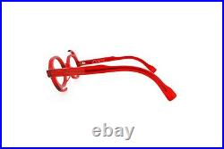 New Authentic Eye'DC V 207 003 90s France Vintage Red Plastic Round Eyeglasses