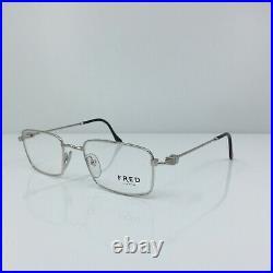New Authentic Vintage FRED Lunettes Tropique Eyeglasses C. 002 Platine 53-20mm
