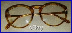 New CARTIER Eyeglasses Gold Marbled Blonde Tortoise Color 50-18-130 Size