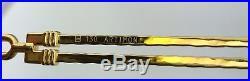 New Custom FRED Vintage Rimless Eyeglasses ARTIMON 22K Yellow Gold F3-53 130mm