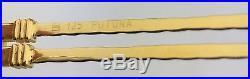 New Custom FRED Vintage Rimless Eyeglasses WALLIS 21K Yellow Gold F3-53 125mm