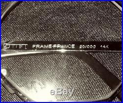 New Old Vintage COTTET FRANCE 14K GOLD Octagonal Sun glasses Eyeglasses Frame