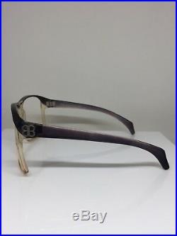 New VINTAGE BALENCIAGA EYEGLASSES 7699 Oversize C. Black & Crystal Made France