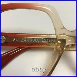New Vintage 60s 70s Jacques Esterel Oversize Lens Square Brown Eyeglass Frames