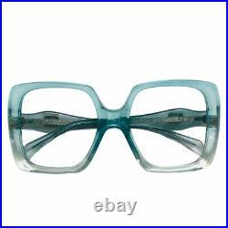 New Vintage 60s 70s Jacques Esterel Oversize Lens Square Green Eyeglass Frames