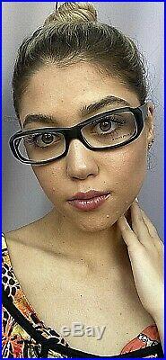 New Vintage ALAIN MIKLI AL 1005002 54mm Black Cat Eye Women's Eyeglasses France