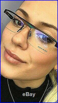 New Vintage ALAIN MIKLI AL 9111 53mm Semi-Rimless Unisex Eyeglasses Frame