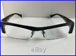 New Vintage ALAIN MIKLI PACT AL 0795 01 51mm Black Semi-Rimless Eyeglasses Frame