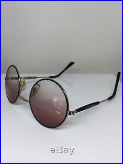 New Vintage Burberrys of London B50 11 Round Sunglasses C. Silver & Black France
