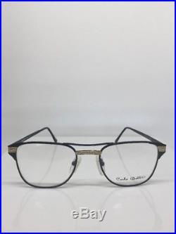 New Vintage Carlo Bellini Paris 7047 Eyeglasses C. Gold Plated & Black 54-22mm