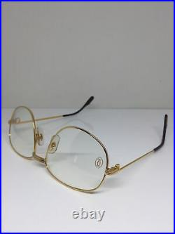 New Vintage Cartier Romance Eyeglasses LC c. Shiny Gold 58-18mm 96518510 France