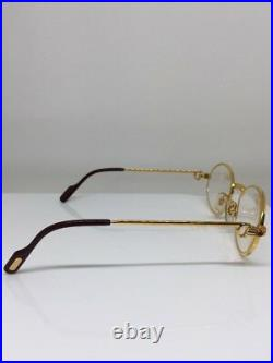 New Vintage Cartier Saint Honore Limited Series Eyeglasses With Sapphire 49-18mm