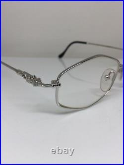 New Vintage FRED Lunettes BELLE ILE Platinum Eyeglasses Force 10 France 49-19mm