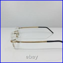 New Vintage FRED Lunettes CUT 008 F3 Rimless Eyeglasses C. 005 Bicolore 54mm