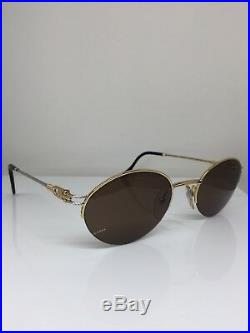 New Vintage FRED Lunettes Feroe Sunglasses Gold Bicolore Rose C. 005 France 51mm