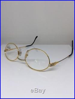 New Vintage FRED Lunettes Ketch Gold Bicolore C. 001 Eyeglasses Made France 51mm
