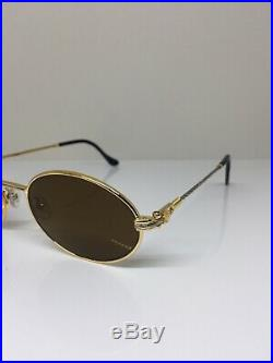 New Vintage FRED Lunettes Ketch Gold Bicolore C. 001 Sunglasses Made France 51mm