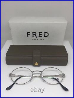 New Vintage FRED Lunettes Ketch Platinum Eyeglasses Force 10 Made In France 49mm