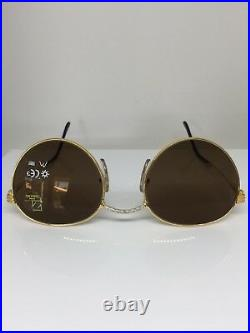 New Vintage FRED Lunettes Ouragan Gold Bicolore C. 001 Sunglasses 53-21mm France